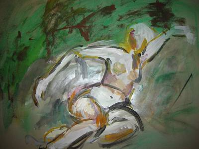 Painting - Nude Outdoors by Elaine Schloss
