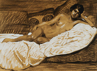 Nude Outstretched Art Print by Theophile Alexandre Steinlen