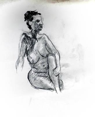 Nude Sitting  Original by Paul Sutcliffe