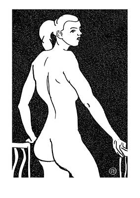 Nude Drawing - Nude Sketch 7 by Leonid Petrushin
