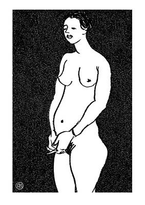 Nature Drawing - Nude Sketch 9 by Leonid Petrushin