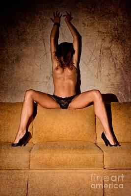 Black Women Nipples Photograph - Nude Sofa 2 by Jt PhotoDesign