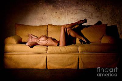 Nude Sofa Art Print by Jt PhotoDesign