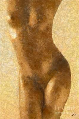 Nude Study 3 Art Print
