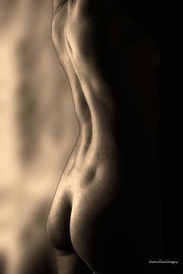 Digital Art - Nude Study 3 by Sandro Rossi