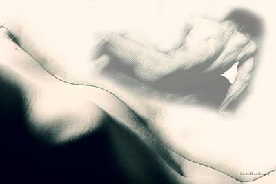 Digital Art - Nude Study 7 by Sandro Rossi