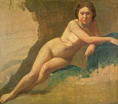 Degas Painting - Nude Study by Edgar Degas