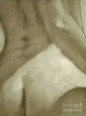 Sepia Chalk Painting - Nude Study I by John Silver