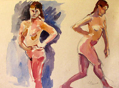 Painting - Nude Study by Linda Novick