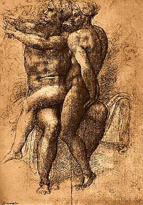 Painting - Nude Study Number One by Michelangelo Buonarroti