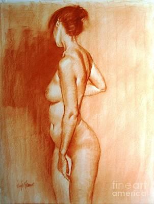 Nude Subtle Angles Art Print