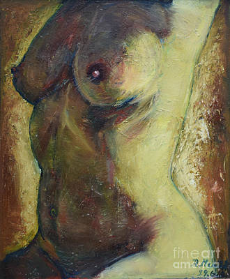 Painting - Nude Female Torso by Raija Merila
