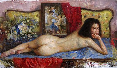 Nude With A Venus And Cupid Original