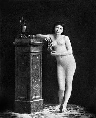 Photograph - Nude With Grapes, C1850 by Granger
