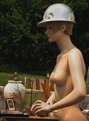 Nude With Hat Art Print by Bill Marder