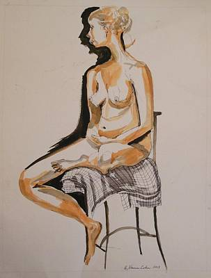 Painting - Nude With Shadow by Esther Newman-Cohen