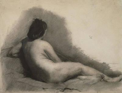Philadelphia Drawing - Nude Woman Drawing by Thomas Eakins