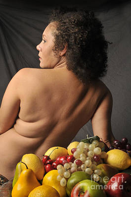 Nude Woman With Fruit Art Print by Timothy OLeary