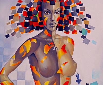 Nude Women On The Wall Art Print