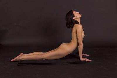 Nude Yoga- Cobra Pose Art Print by Stephen Carver