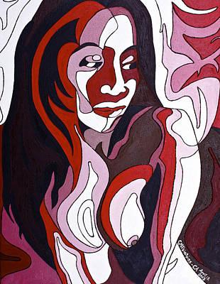 Painting - Nude5 by Carol Tsiatsios