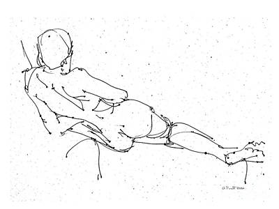 Drawing - Nude_male_drawing_24 by Gordon Punt