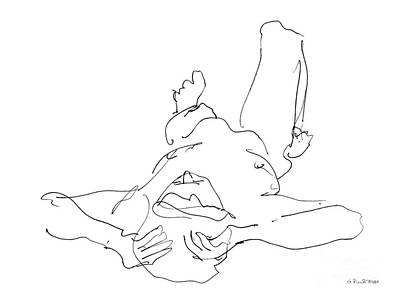 Nude_male_drawings-22 Art Print