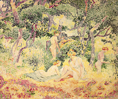 Nu Painting - Nudes In A Wood, 1905 by Henri-Edmond Cross