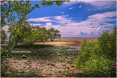 Nudgee Beach Queensland  Australia Art Print by Donah Beckhouse