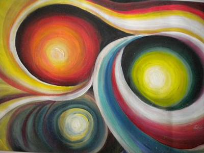Painting - Nudging Beauty Of Souls Abstract Painting by Rohini Yadawar