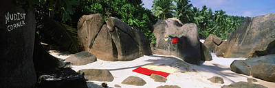 Nudist Corner Written On A Rock Art Print by Panoramic Images