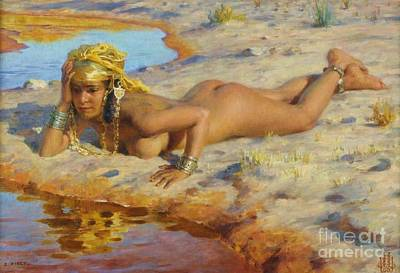 Painting - Nue Au Bord De L' Oued by Pg Reproductions