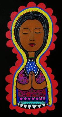Painting - Nuestra Senora De Guadalupe Le by Pristine Cartera Turkus