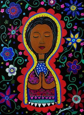Painting - Nuestra Senora De Guadalupe by Pristine Cartera Turkus