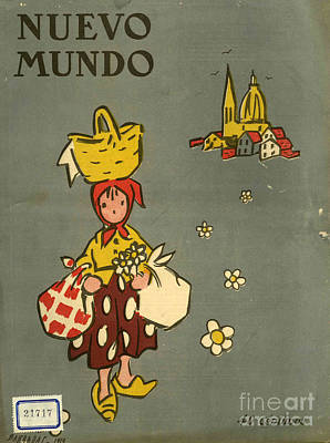 Nineteen-tens Drawing - Nuevo Mundo 1919 1910s Spain Cc by The Advertising Archives