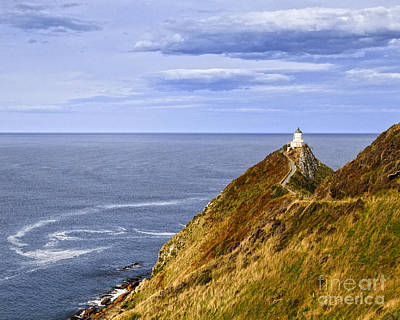 Photograph - Nugget Point Lighthouse Otago New Zealand by Colin and Linda McKie