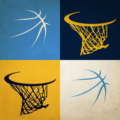 Nuggets Ball And Hoop Art Print
