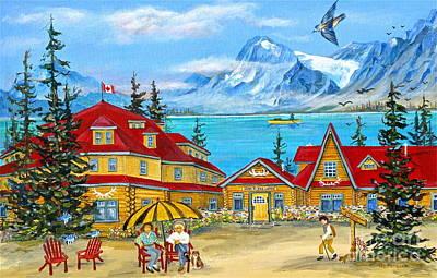 Banff Artist Painting - Num-ti-jah Lodge by Virginia Ann Hemingson