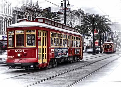 Streetcar Digital Art - Number 2024 Trolley by Tammy Wetzel