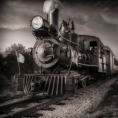 Cinematic Photograph - Number 4 Narrow Gauge Railroad by Bob Orsillo