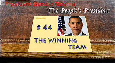 Joe Biden Photograph - Number 44 - The Winning Team by Terry Wallace