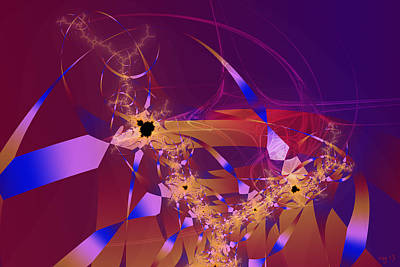 Abstract Digital Digital Art - Number 9 by Roger Pearce