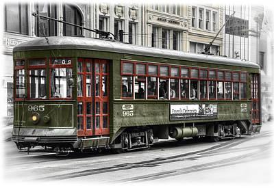 Streetcar Digital Art - Number 965 Trolley by Tammy Wetzel