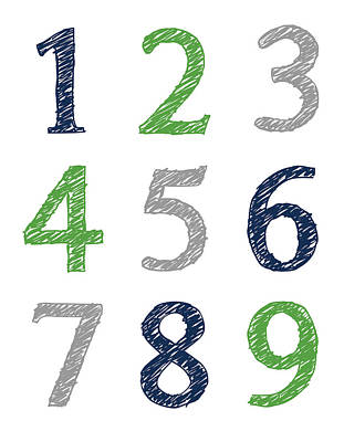 Digital Art - Numbers 123 Poster by Jaime Friedman