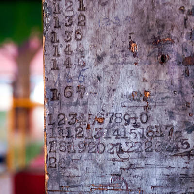 Photograph - Numbers by Chris Bordeleau