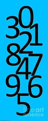 Photograph - Numbers In Black And Blue by Jackie Farnsworth