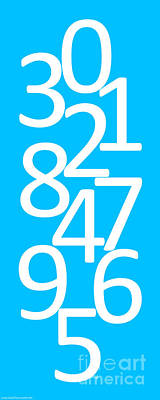 Photograph - Numbers In Blue And White by Jackie Farnsworth