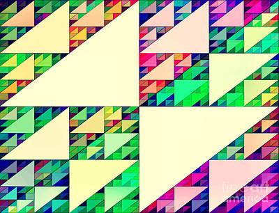 Most Popular Painting - Numinous Triangles IIi by Tatjana Popovska