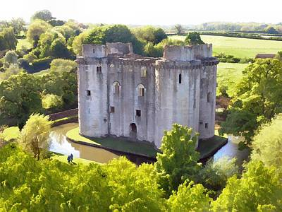 Nunney Castle Painting Art Print