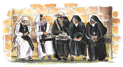 Painting - Nuns In Noto by Miki De Goodaboom